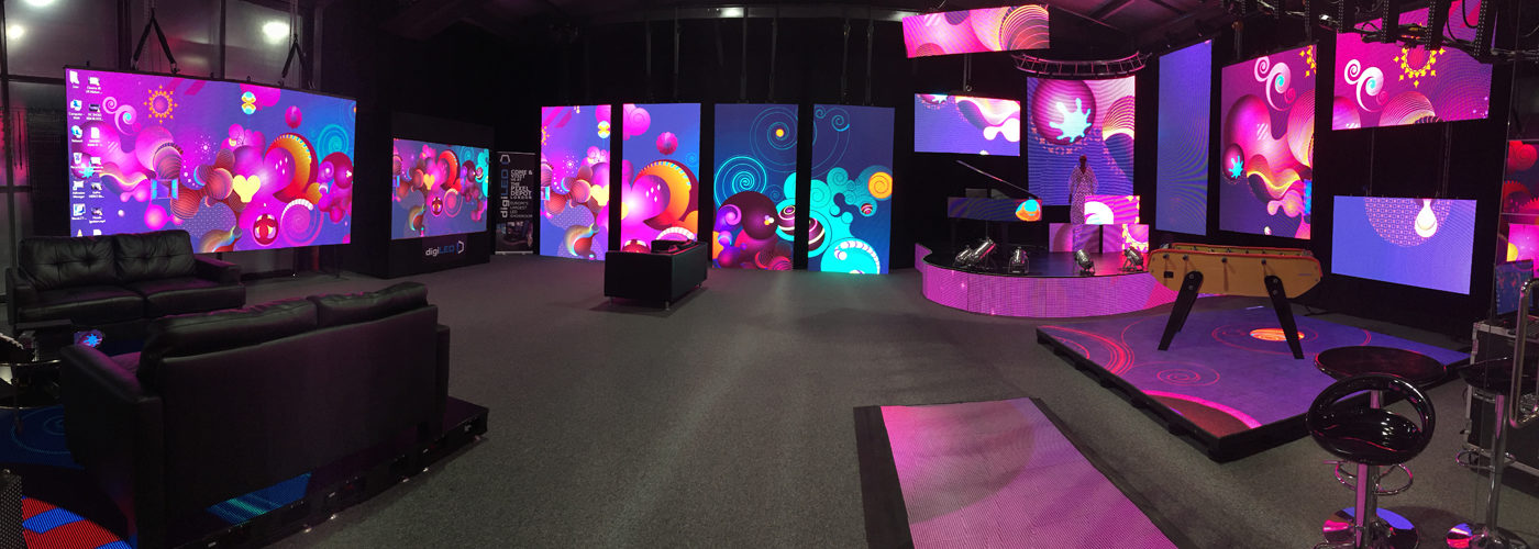 LED display Showroom; digiLED; pixels; Toura; iMAG; digiFLEX; LED Floor