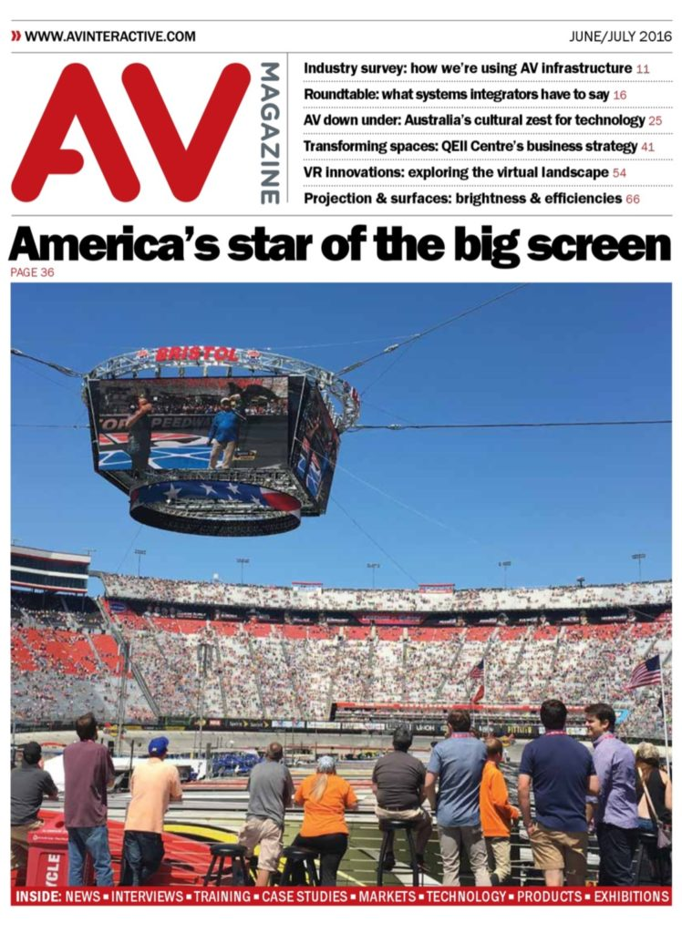 AV magazine title page June 2016