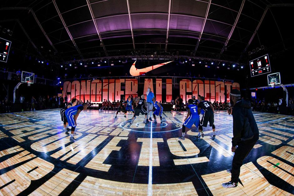 Entire Led Floor Built In Nyc For Nike Latest Basketball