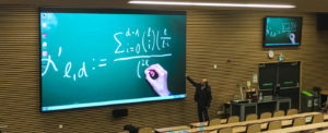 LED screens are replacing projector systems as first choice for university lecture theatres